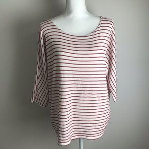 Vero Moda - red and white striped knit shirt